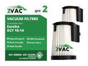 Eureka DCF10 / DCF14 ZVac HEPA Filters 62396 (2 Pack)