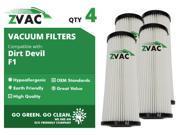 ZVac Dirt Devil F1 Washable HEPA Filter 3JC0280000 4 Pack UPC 608939746879