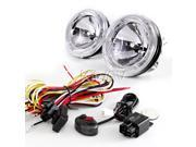 "Sirius NS-35 4"" driving Lights Halogen Bulb H3 w/ LED light ring angel eye + wiring kit wk-010"