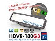 ABEO HDVR-180G3 FHD 1080P@30FPS CAR DVR Rear Mirror G SENSOR WDR LDWS + FCWS time machine crash cam recorder 4gb SD
