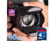 Hoocap DSLR 46mm lens cap + hood shade 2in1 for filter thread lens brought to u by KiWAV