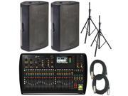 Behringer X32 Digital PA Mixer w/ Turbosound M15's