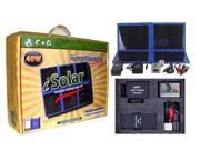40W Portable Solar Charger Kit, foldable Camping, Hiking, Emergency, Survival, Disaster, Rescue, RV, Laptop, Hunting, Fishing, Boating kit. with 96W Battery.