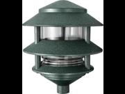 RAB Lighting LL322VG Incandescent 3 Tier Lawn Light, A-19 Type, 75W Power, 1220 Lumens, 120VAC, Verde Green 9SIA0ZC5WE9809