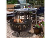 Blue Rhino Endless Summer Deep Drawn Bronze Fire Pit Oil Rubbed Bronze WAD850SP