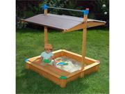 Exaco Maxi Sandbox With Toy Storage Box And Adjustable Roof