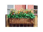 Griffith Creek Nelumbo Window Box Planter 36 Inch  Black