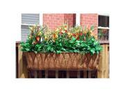 Griffith Creek Nelumbo Window Box Planter 48 Inch  Black