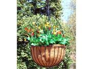 Griffith Creek Alexandria Hanging Planter 17 Inch  Leather Black