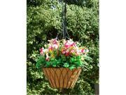 Griffith Creek Nelumbo Hanging Planter 20 Inch  Black