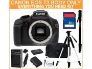 Canon EOS REBEL T3 Black 12.2 MP Digital SLR Camera Body ONLY, Everything You Need Kit