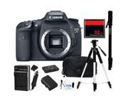 Canon Eos 7d Cmos 18mp Digital Slr Camera - Body Only, Everything You Need Kit, 3814b004