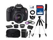 Canon EOS REBEL T3i Black 18 MP Digital SLR Camera with 18-55mm IS II Lens, Everything You Need Kit, 5169B003