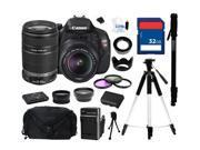 Canon EOS REBEL T3i Black 18 MP Digital SLR Camera with 18-55mm IS II Lens and Canon EF-S 55-250mm f/4-5.6 IS II Lens, Everything You Need Kit, 5169B003