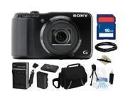 SONY Cyber-shot DSC-HX20V/B Black 18 MP 20X Optical Zoom Digital Camera, Everything You Need Kit, DSCHX20V/B