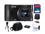 Samsung WB150F 14MP (Black) SMART Long Zoom WiFi Digital Camera with 18x Optical Zoom, Everything You Need Kit, EC-WB150FBPBUS