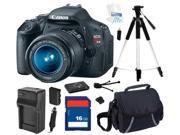 Canon EOS REBEL T3i Black 18 MP Digital SLR Camera with 18-55mm IS II Lens, Beginner's Bundle Kit, 5169B003