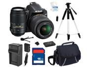 Nikon D3200 Black 24.2 MP CMOS Digital SLR Camera with 18-55mm Lens and Nikon AF-S NIKKOR 55-300mm f/4.5-5.6G ED VR Zoom Lens, Beginner's Bundle Kit, 25492