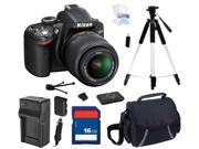 Nikon D3200 Black 24.2 MP CMOS Digital SLR Camera with 18-55mm Lens & Wi-Fi Connectivity, Beginner's Bundle Kit, 25492