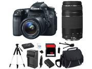 Canon Eos 70d 18.0 Mp Digital Camera 18-55mm   75-300mm Lens (starter's Bundle)