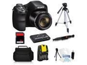 Sony Cyber-Shot DSC-H200 20.1 MP Digital Camera + 32GB Essential Kit with Tripod