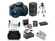 Canon EOS Rebel T5i 18.0 MP DSLR + 18-55mm + 55-250mm + (Holiday Bundle Kit)
