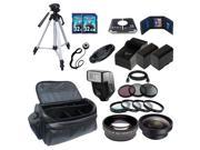Advanced Accessory Holiday Package For Canon HF R42, HF R40 HF R400 Camcorders