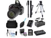 Nikon D5300 DSLR Camera with 18-140mm Lens (Black) + (Pro Tripod/Monopod Kit)