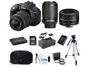 Nikon D5300 DSLR Camera with 18-55 VR + 55-200VR + 50mm f/1.8 Lens + 12pc Bundle