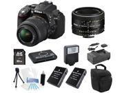 Nikon D5300 DSLR Camera with 18-55 VR + 50mm f/1.8D Lens + Supreme Flash Kit