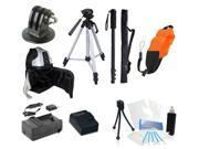 Professional Outdoor Accessory Kit for GoPro Hero 3+ (Silver Plus)