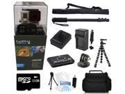 GoPro Hero 3+ Black Edition + (32GB Monopod/Gorilla Tripod Accessory Kit) for Jetskiing, Scubadiving, Snowboarding, Skiing, Swimming and More!