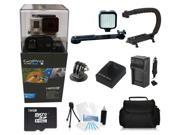 GoPro Hero 3+ Black Edition + (16GB Pro LED Light and Holster Kit) for Skate Boarding, Rollerblading, Skiing, Snowboarding, Skydiving and More!
