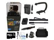 GoPro Hero 3+ Black Edition + (32GB U Bracket Pro Accessory Kit) for Skateboarding, Skiing, Snowboarding, Skydiving, and More!