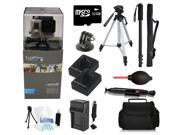 GoPro Hero 3+ Silver Edition 32GB Tripod/Monopod Advanced Outdoor Bundle Kit for Skiing, Snowboarding, Skydiving, Kayaking and More!