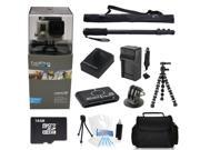 GoPro Hero 3+ Silver Edition + (16GB Monopod/Gorilla Tripod Accessory Kit) for Jetskiing, Scubadiving, Snowboarding, Skiing, Swimming and More!