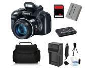 Canon PowerShot SX50 HS 12MP Digital Camera + (16GB Basic Starter Bundle Kit)