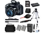 Canon PowerShot SX50 HS 12MP Digital Camera + (32GB All You Need Bundle Kit)