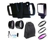 Iographer Case + Ultimate Flash Backpack Bundle Kit for iPad Mini +37mm hd 2.0x conveter and wide angle Lens Kit