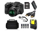 Nikon COOLPIX L830 16 MP Camera + 32 GB Basic Photography Accessory Kit