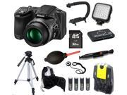 Nikon COOLPIX L830 16 MP Camera + 32 GB LED Light Tripod/Backpack Bundle Kit