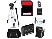 Advanced Accessories Kit + Battery + Charger + Tripod + 32GB For Canon ELPH 340