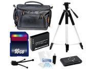 Intermediate Digital Camera Accessories Kit + Battery + 16GB for Canon ELPH 135