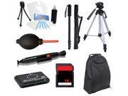 Professional Backpack/Tripod + Case + Monopod + 16GB Bundle for Canon ELPH 135