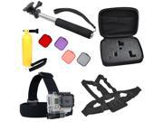 All Inclusive Professional Extreme Sport Bundle Kit for GoPro HD Hero 3+ Silver