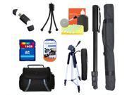 Camcorder Tripod Accessory Bundle Kit for Panasonic HC-V250 V550 V750