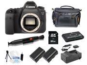 Canon 6D DSLR Camera Body + 64GB Memory + Extra Batteries + Holiday Bonus Bundle