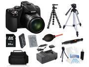Nikon COOLPIX P530 16.1 MP Digital Camera + 32GB + Tripods Holiday Bundle Kit
