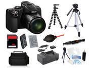 Nikon COOLPIX P530 16.1 MP Digital Camera + 16GB + Tripods Holiday Bundle Kit