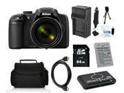 Nikon COOLPIX P600 16.1 MP Digital Camera with 64GB Pro Holiday Equipment Bundle